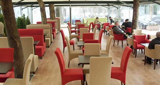 Kırmızı Krem Sedir ve Poliüretan Sandalye