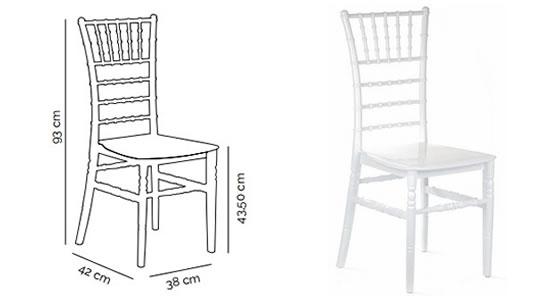tiffany sandalye standart ölçüleri